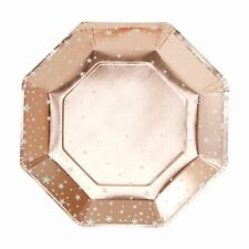Rose Gold Star Party Paper Plates - pack of 8