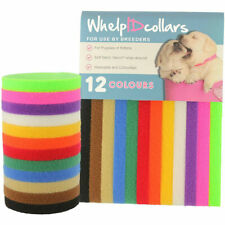 12 Colors Puppy Litter Identification Snap Collars Id Bands For Kittens Rabbits