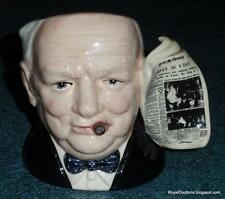 """Winston Churchill"" Royal Doulton Character Toby Jug D6934 - EXCELLENT GIFT!"
