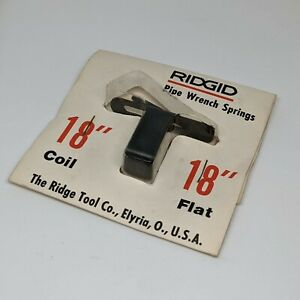 """Ridgid 18"""" Pipe Wrench Nut & Spring Assembly Replacement Pack - NEW OLD STOCK"""