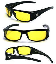 BioHazard Mens Designer Sunglasses Free Pouch - Yellow BZ1