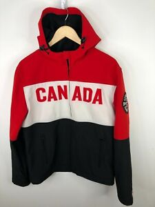 HBC Olympic Soft Shell Jacket Team Canada Sochi Hooded Podium Mens Medium