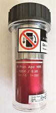 Mitutoyo Objective Lens M Plan Apo NIR 100X /0.50 ∞/0 F=200
