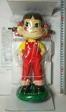 "Rare@Peko-Chan Bobbing Bobble-Head 12"" Doll Figure*Fujiya ""Not For Sale""Election"