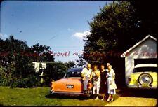 1950s SOUTH DAKOTA 1957 Dodge Coronet Orange! Kodak Red Slide s486