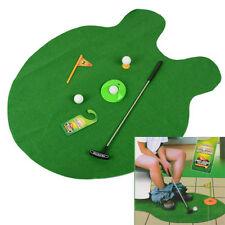 Funny Toilet Bathroom Mini Golf Set Mat Potty Putter Putting Game Novelty Gift