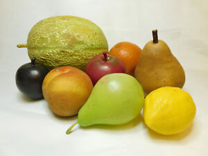 Artificial Fruit , Fake Fruit Set – Melon, Pears, Apples, Plum, Peach etc..