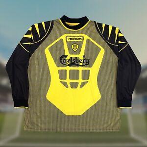 Liverpool 2001/02 Away Goalkeeper GK Soccer Jersey 2XL Reebok EPL Camiseta RARE