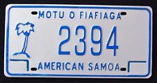 """USA """" AMERICAN SAMOA ISLAND - MOTU O FIAFIAGA """" PALM TREE Graphic License Plate"""