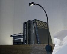 12v LED Flexible Reading Light inc 2 USB Charging Ports Black Campervan Caravan