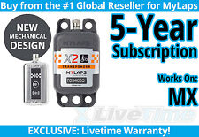 MyLaps X2 MX Rechargeable Transponder w/ 5-year Subscription -AMB Flex 260