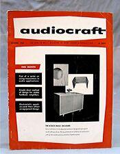 Vintage 1956 Audiocraft Magazine