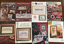 Lot of 8 Counted Cross Stitch Chart Patterns Books ALL Christmas Booklets
