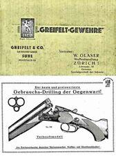 Greifelt-Gewehre, Suhl (German) c1935 Gun Catalog
