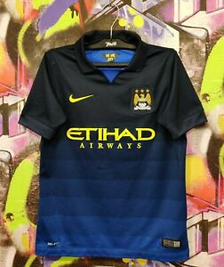 Manchester City FC 2014 2015 Away Football Shirt Soccer Jersey Nike Youth size M