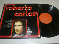 """ROBERTO CARLOS CANTA EXITOS EN ESPAÑOL - LP VINILO VINYL 12"""" G+/VG CBS 1974"""