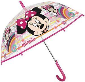 Ombrello MINNIE Trasparente Bambina Cupola Automatico Antivento PERLETTI Disney