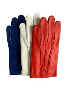 Men's Leather Costume Dress Driving Gloves Medieval Steampunk Victorian Defects