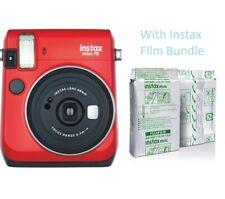 Fujifilm Instax Mini 70 Film Camera with Instax FIlm Bundle (Red)