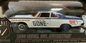 """Highway 61 Collectibles 1:18 1964 Dodge 330 Superstock """"Color Me Gone"""" #50299"""