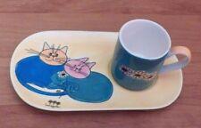 A Loja do Gato Preto The Black Cat Shop Small Cup and Tray EUC