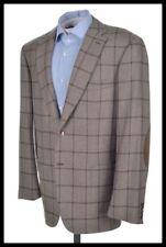 BRIONI Current Brunico Brown Check 100% CASHMERE Blazer Sport Coat Jacket - 42 R