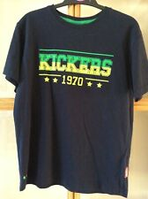 Kickers, Boys, Navy, Short Sleeve T-shirt, Age 9-10 years. Ex. cond.