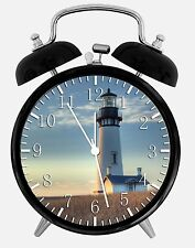 "Light House Alarm Desk Clock 3.75"" Room Office Decor X29 Will Be a Nice Gift"