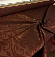 SUPER LUXURIOUS RICH WINE JACQUARD CURTAIN FABRIC 2 METRES