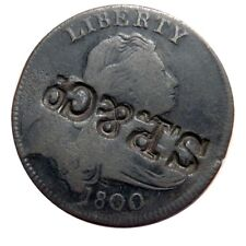 Large cent/penny 1800 Sheldon 202 rare with prominent counter stamp