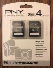 LOT OF (9) 2 packs Genuine Original PNY 4GB SD Card SDHC Flash Memory HD Video
