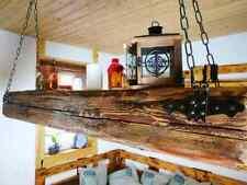 Deckenlampe Holz Hängelampe Altholz anno 1795  Balken  Led  Balkenlampe