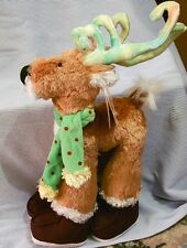 New Plush Holiday Reindeer Rainbow-Colored Antlers