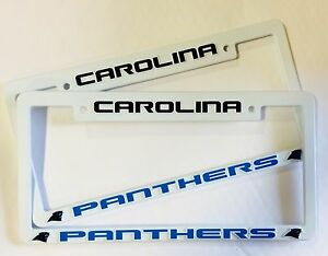 2 Carolina Panthers Low Profile License Plate Frame Auto Truck NEW - FREE SHIP