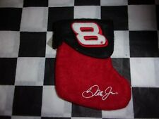 "Dale Earnhardt Jr NASCAR  Christmas Stocking 7"" New #8 Red / Black"