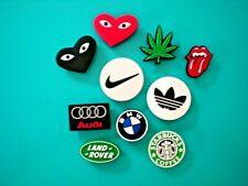 Clog Shoe Charm Plug Fit Croc Accessories Fits Jibbitz Wristband Logo Emblem Lot