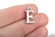 8 Letter E Charms Silver Plated monogram 15mm, chs2589