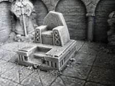 Dwarven Throne Thomarillion Unpainted Resin Dwarven Forge D&D