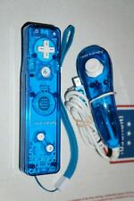Nintendo Wii Console Blue Rock Candy Wiimote Remote Game Controller + Nunchuk