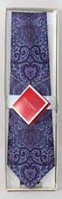 Isaac Mizrahi Purple Paisley Silk Men's Tie New With Tags
