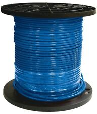 500 ft 8 Gauge Electric Wire Blue Stranded CU THHN Single Conductor Copper Wire