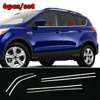 FIT FOR FORD ESCAPE KUGA  13- CHROME SIDE DOOR WINDOW SILL TRIM COVER STRIP LINE