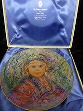 """Edna Hibel """"La Contessa Isabella"""" Collectors Plate - The Nobility Of Children"""