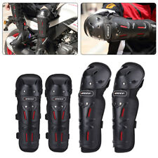 4× Adult Motorcycle Knee Elbow Shin Armor Bike Protector Off-road Guard Pad Gear