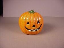 Vintage Halloween Pumpkin ceramic planter Jack o Lantern vase decoration