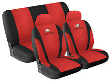 Set Seat covers Front + Rear in microfiber Rosso Simoni Racing