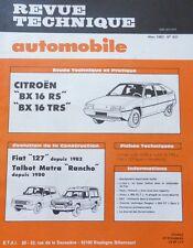 NEUF Revue technique CITROEN BX 16 RS TRS RTA 431 1983 TALBOT RANCHO MATRA 127