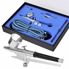vidaXL Airbrushset met Mondstukken Airbrush Verfspuit Set Spuitpistool Verf