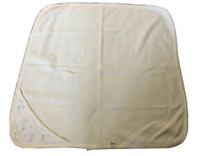 Vintage J.E. Morgan Waffle Weave Thermal Balloons Hooded Baby Blanket  USA Made