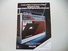advertising Pubblicità 1973 RADIO PHILIPS RADIOREGISTRATORE RR 332